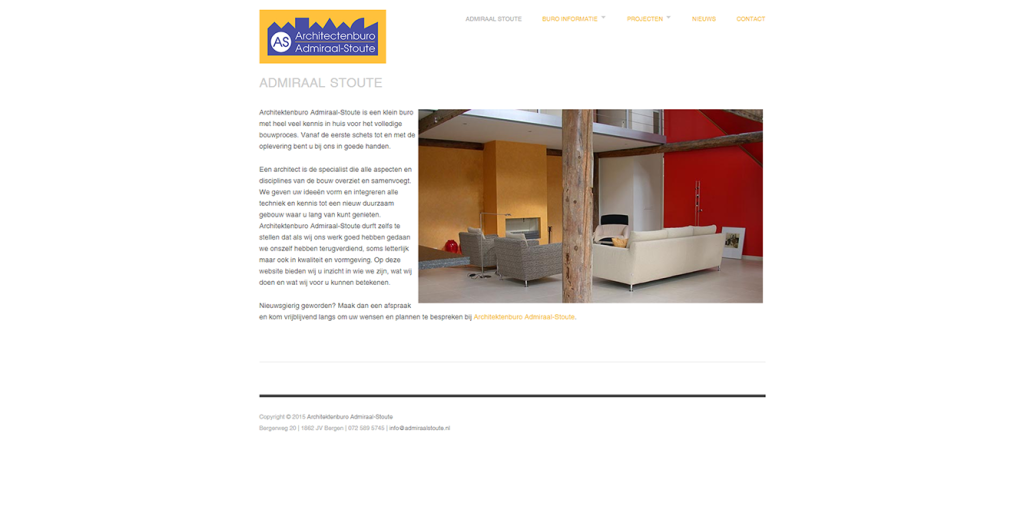 Architectenbureau Admiraal-Stoute portfolio GonBa websites