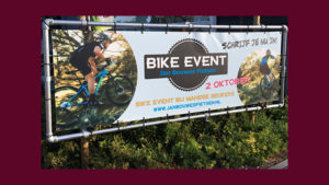 GonBa spandoek voor Bike Event