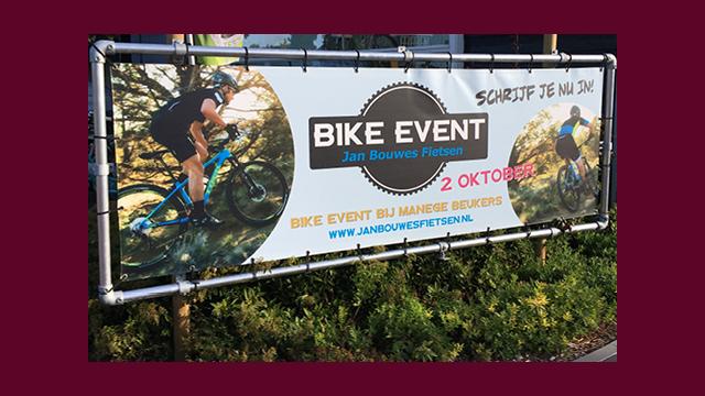 GonBa spandoek voor Bike Event