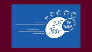 logo jubileum TV Tulp vormgeving GonBa