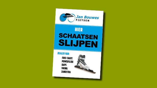 poster Jan Bouwes Fietsen, ontwerp en opmaak GonBa