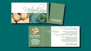 GonBa uitnodiging firma Wagenaar, inclusief visitekaartje