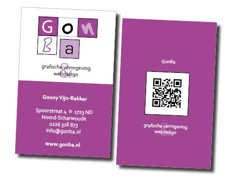 visitekaartje GonBa grafische vormgeving en websites