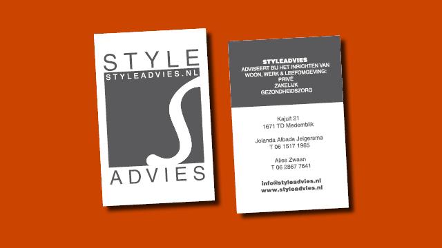 visitekaartje Styleadvies vormgeving GonBa