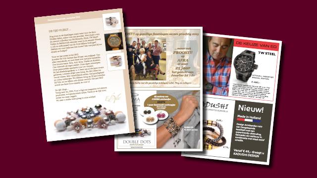 magazine juwelier Ed Ydo, grafische vormgeving GonBa