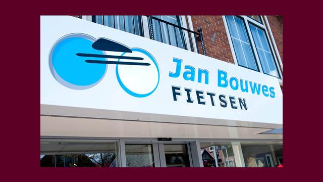 gevelreclame Jan Bouwes Fietsen, grafische vormgeving GonBa