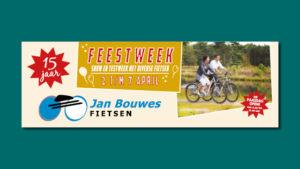 GonBa spandoek voor Jan Bouwes Fietsen