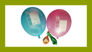 Logo omgezet door GonBa vormgeving voor ballonnen in opdracht van Studio de Mol