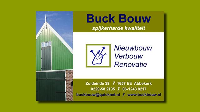 GonBa advertentie Buck Bouw