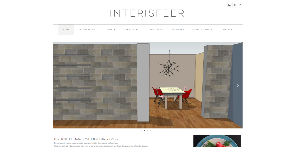 website Interisfeer gemaakt door GonBa websites