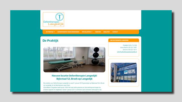 GonBa website Oefentherapie Langedijk