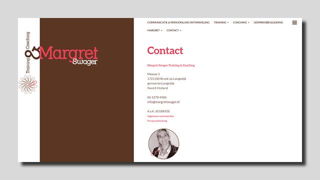 GonBa website Margret Swager Training Coaching