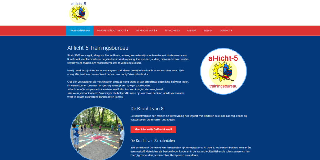 website Al-licht-5 Trainingsbureau gemaakt door GonBa