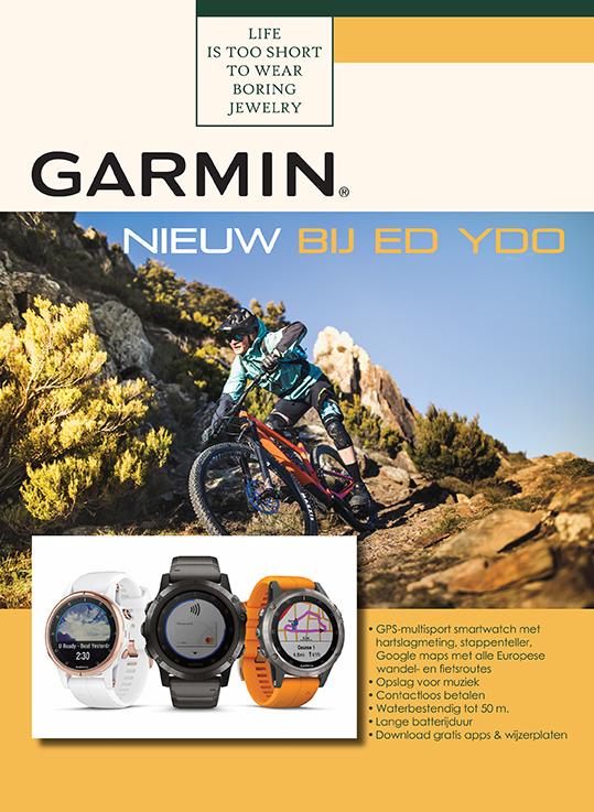 Garmin pagina opmaak door GonBa voor magazine Juwelier Ed Ydo