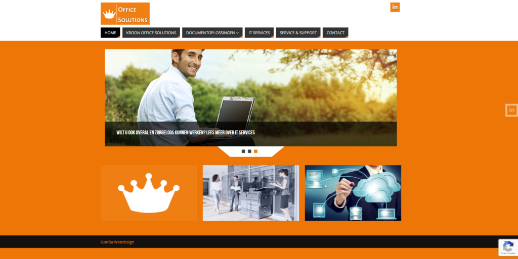 website Kroon Office Solutions gemaakt door GonBa