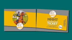 business ticket met perforatierand voor NHHT gemaakt door GonBa