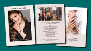een aantal pagina's opmaken GonBa voor Juwelier Ed Ydo magazine