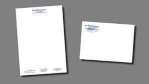 briefpapier en envelop De Kerkmeer bv, opmaak door GonBa