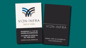 Vijn Infra visitekaartje ontwerp vormgeving GonBa