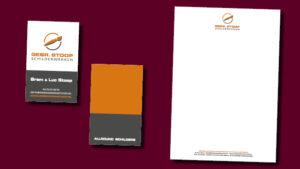 GonBa grafische vormgeving en websites heeft visitekaartjes en briefpapier gemaakt voor Gebroeders Stoop Schilderwerken